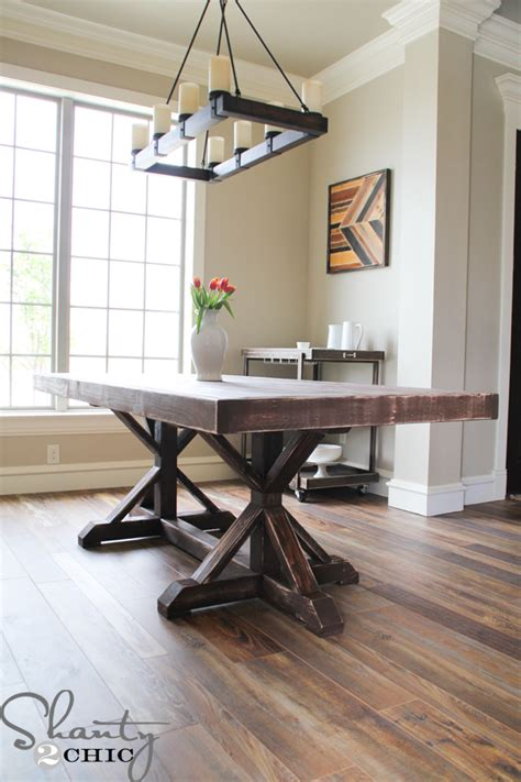 shanty to chic farmhouse table restoration hardware inspired dining table shanty 2 chic