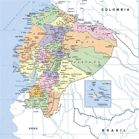 map of with all cities map of ecuador with cities ecuador map with cities