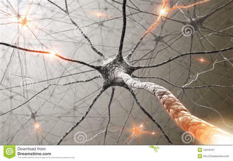 powerpoint templates free download neurons neuronen die leistung des verstandes stock abbildung