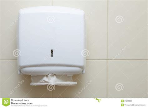 bathroom paper towel dispenser paper towel dispenser in the bathroom royalty free stock