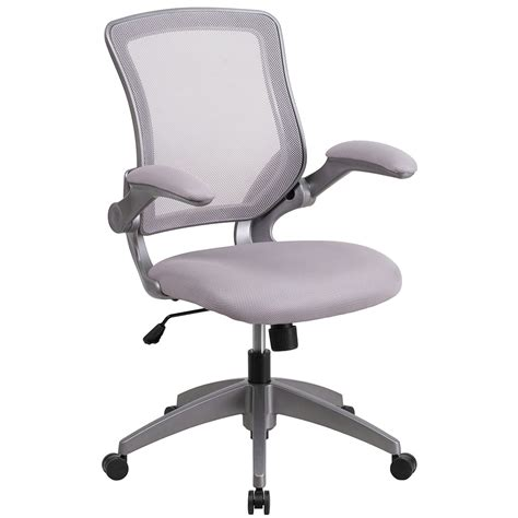 Ergonomic Home Mid Back Gray Mesh Swivel Task Chair With Mesh Swivel Chair
