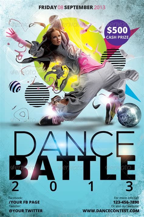 dance battle flyer template hermz graphicriver dance