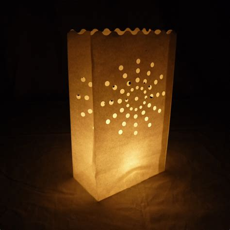 patterns for paper bag luminaries sunburst luminarias paper craft bag 10 pack fire retardant