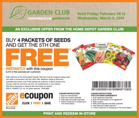 home depot coupons january 2015