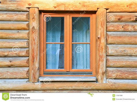 wooden house windows modern window in wood house stock photo image 17901698