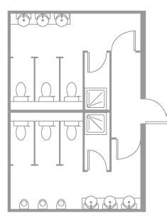 layout of toilet public toilet layout google search architecture