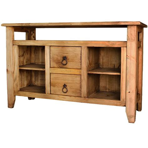 rustic sofa tables with drawers rustic pine collection san marcos console table w two