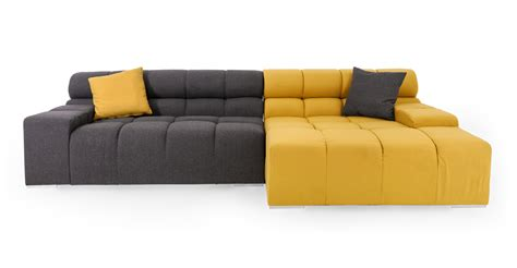 Modern Modular Sectional Sofa Cubix Modern Modular Sofa Sectional Right Arylide Charcoal Ebay