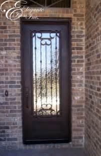 Iron Front Door Custom Wrought Iron Front Door Single Doors
