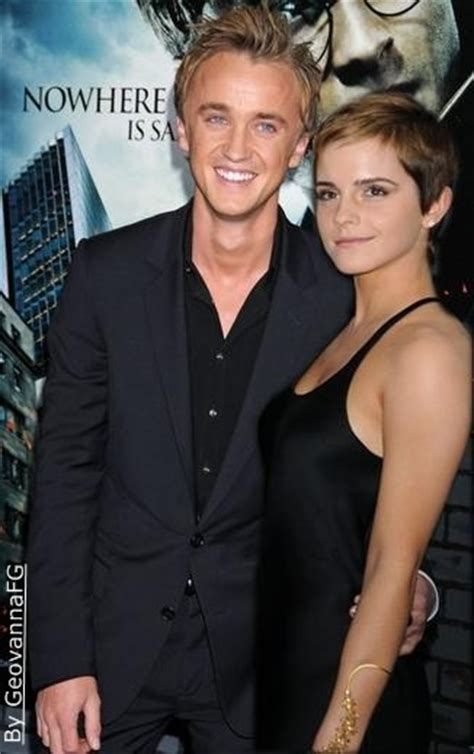 emma watson et tom felton film tom felton again happiness sneaks in through the door