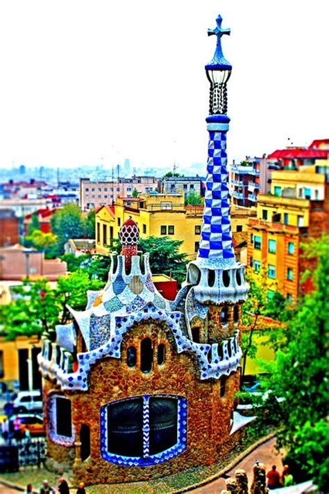 gaudi house barcelona gaudi gingerbread house at park guell in barcelona