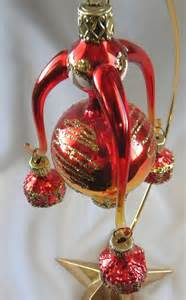 sale red gold 4 part italian hand blown glass christmas