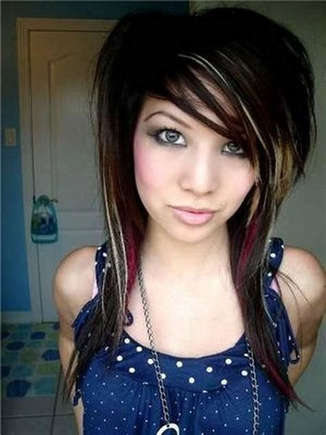 haircuts for long hair emo emo haircuts for girls with long hair