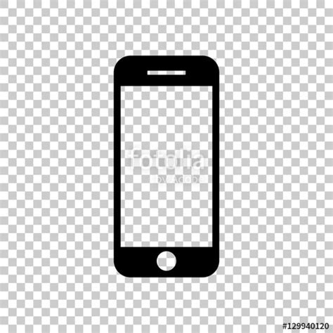mobile phone icon font quot mobile phone icon black icon on transparent background