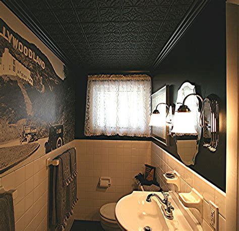 Tin Ceiling In Bathroom by Thermoformed Ceiling Tiles 2 X4 For Refacing And Grid