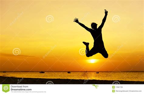 jump free jump silhouette royalty free stock images image 17961739