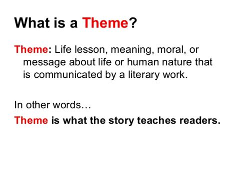 themes of story of my life theme lesson 2