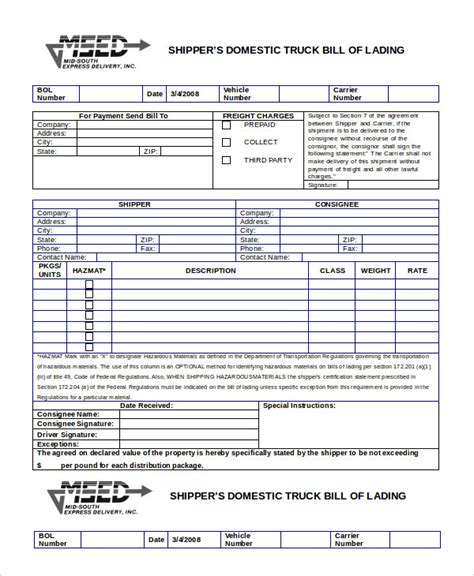 bill of lading dhl bill lading ccweky best of examples template