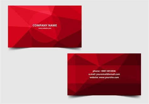 Free Business Card Templates Artwork by Free Vector Polygon Business Card Free Vector