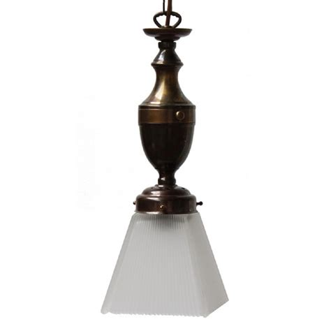 Vintage Style Pendant Lights Small Ceiling Light Antique Brass With Frosted Glass Shade