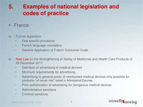 national 5 french practice presentation on marketing of medical devices in europe 24 01 2012