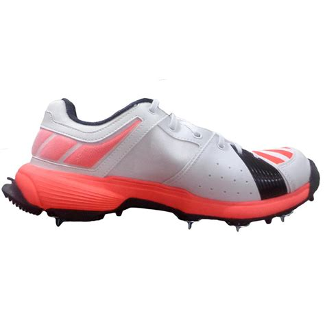 adidas sl fs ii full spike cricket shoes white  red
