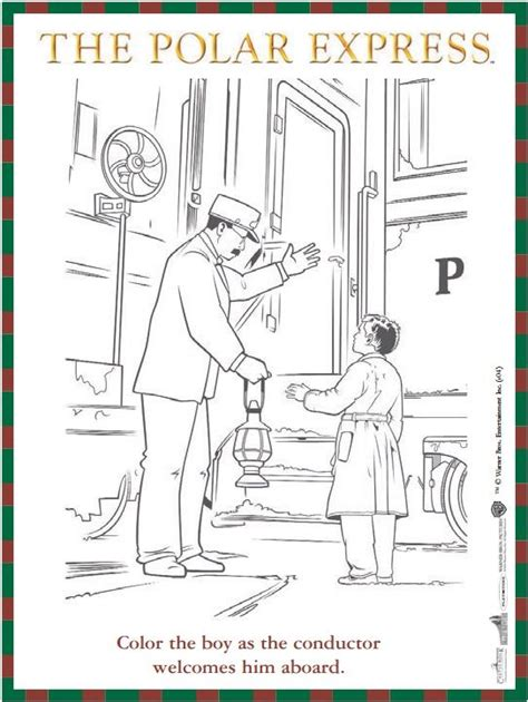 polar express coloring pages free reproducible the polar express coloring sheet