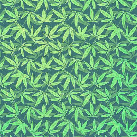 Hemp Patterns - cannabis hemp 420 marijuana pattern digital by philipp