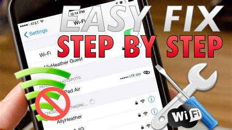 how to fix iphone won t connect to wifi not connecting or