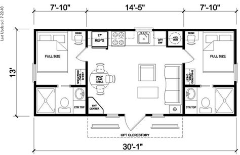 Model Floor Plans | greenbriar floor plan rv park model homes texas