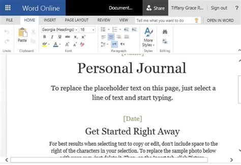 personal journal template how to make a cloud based personal journal in word