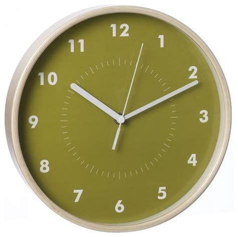 Simple Wood Wall Clock Green Modern Wall Clocks By
