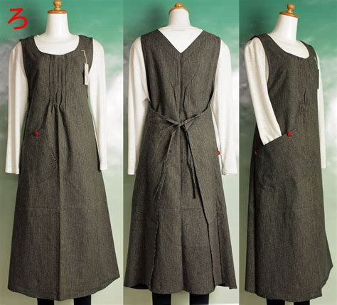 pattern pinafore dress ryu fashionable piece apron dress style piece one piece