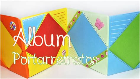 Origami Photo Album - diy mini album portarretratos origami scrapbook