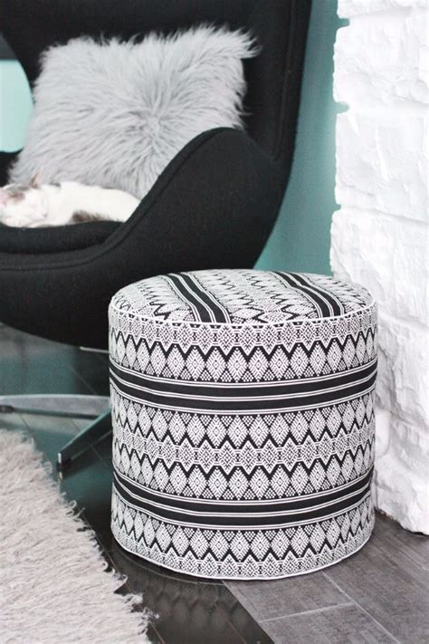 homemade pouf ottoman 32 fabulous diy poufs your living room needs right now