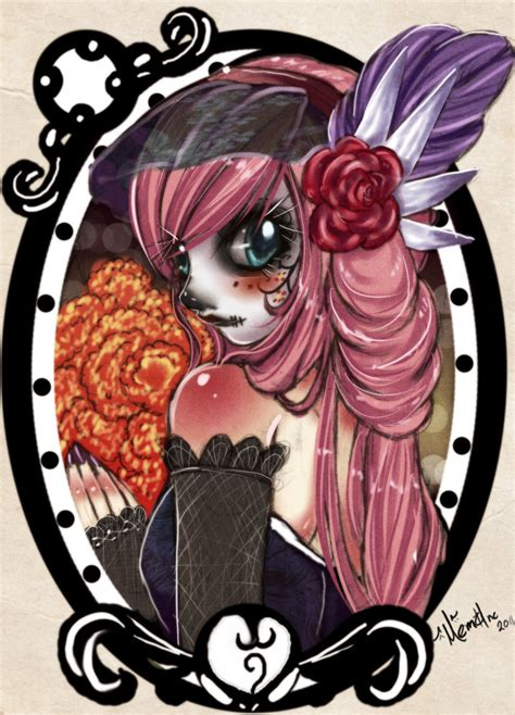 imagenes de calaveras anime pink catrina by memainc on deviantart