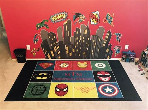 Justice League Area Rug Rug Rugs Ideas