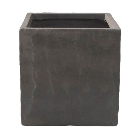 B And Q Planters by Leven Square Grey Planter H 400mm L 400mm Departments