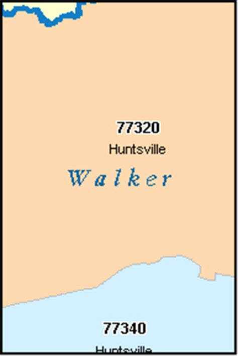 huntsville texas zip code map walker county texas digital zip code map