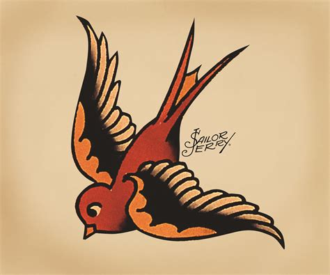 traditional sparrow tattoo sailor jerry flickr photo