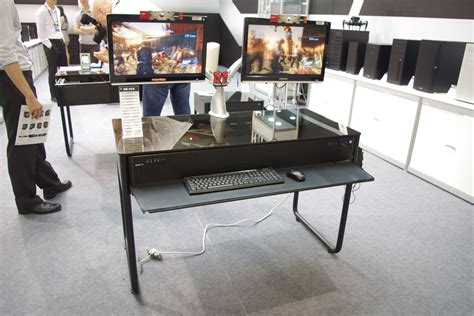anand bench computex 2014 lian li s dk 02x chassis that is also a desk