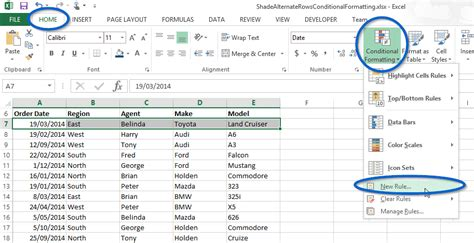 format excel rows to alternate colors formula to select alternate rows in excel how to color