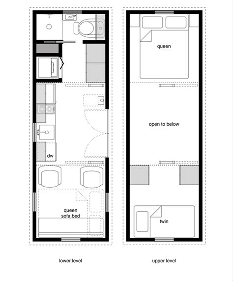 tiny homes floor plans tiny house floor plans with lower level beds tiny house
