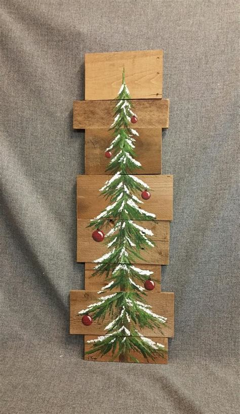 items similar to tree bulbs pine tree reclaimed wood pallet winter snow