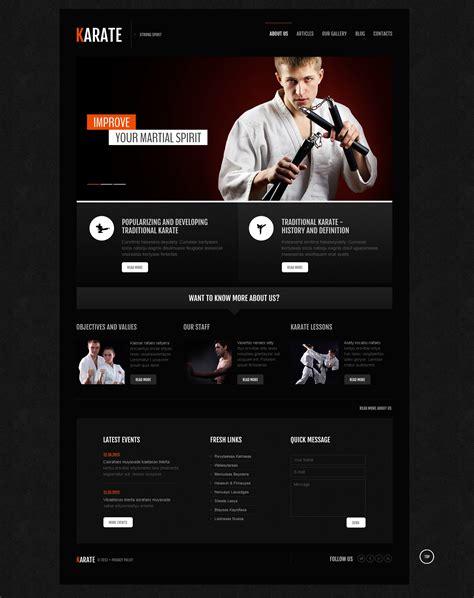 Karate Association Joomla Template 45709 Karate Website Template