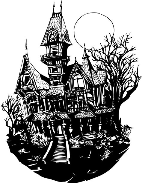 Is My House Haunted Address Search Free Haunted House Coloring Page Free Clipart Images Clipartbarn