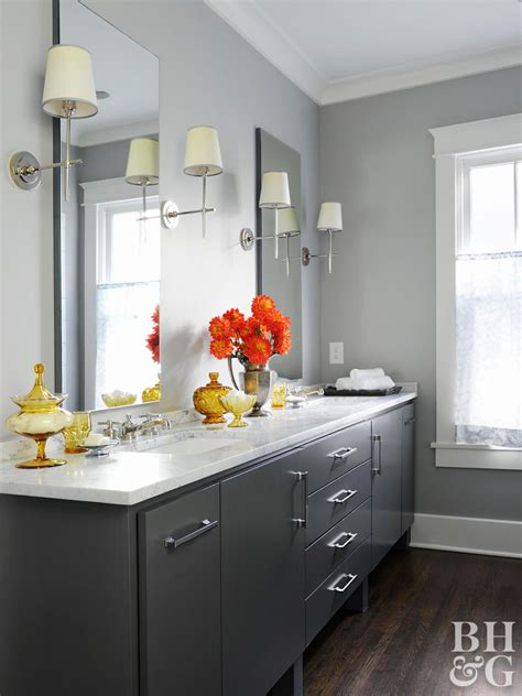 colors for bathrooms popular bathroom paint colors better homes gardens