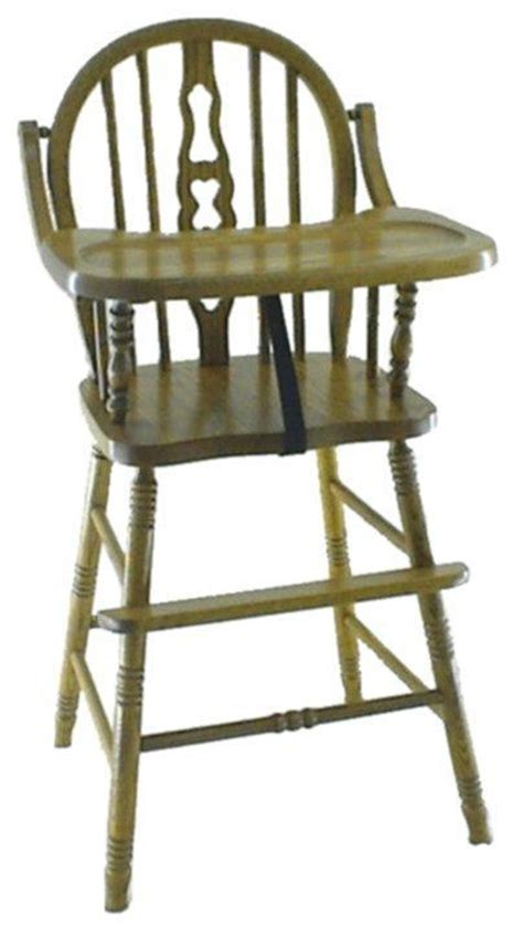 amish fiddle back high chair
