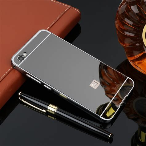 Xiaomi Note 1 3g4g Alumunium Metal Mirror for funda xiaomi redmi note 5a 16gb mirror aluminum metal bumper pc back cover xiomi redmi