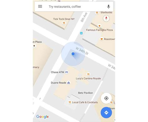 that blue dot in google maps now shows your direction google maps update adds direction beam to your blue dot